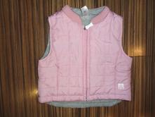 Krásná růžová přechodová vesta - prošívaná, baby club,68