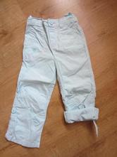 Tenké, letní roll-up kalhoty, tyrkysovobleděmodré, cherokee,98