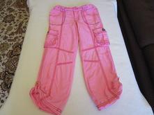 Růžové oteplené bavl. kalhoty, v pase guma, v. 110, marks & spencer,110