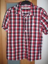 Bielo-modro-červená károvaná košeľa m&s, marks & spencer,146