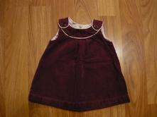 Fialové manžestrové šaty, h&m,68