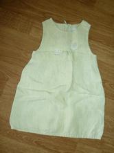 Lněné šaty, šatičky, h&m,74