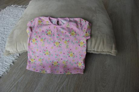 M1 tričko s kytičkama, f&f,68