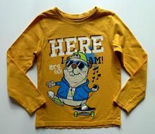 Obrázkové triko s dlouhým rukávem vel. 116, dopodopo,116