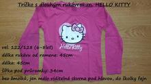 Tričko s dlouhým rukávem zn. hello kitty, 122