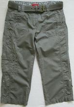 Dámské kapri kalhoty khaki s.oliver s m 36 38, s.oliver,s