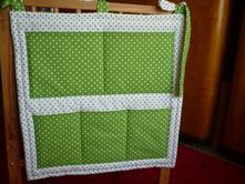 Kapsář zelené puntiky nebo hvězdičky 60x60 cm, 60,60