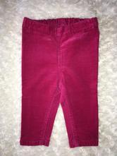 Růžové manžestrové kalhoty h&m, h&m,68