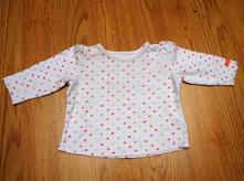 Bílé tričko s barevnými puntíky, mothercare,68