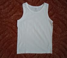 Bílé podvlíkací tričko tílko nátělník h&m, h&m,110