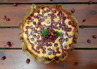 Tvarohový angreštový koláč