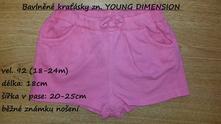 Bavlněné kraťásky zn. young dimension, young dimension,92