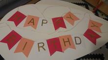 """Papirova girlanda """"happy birthday"""","""