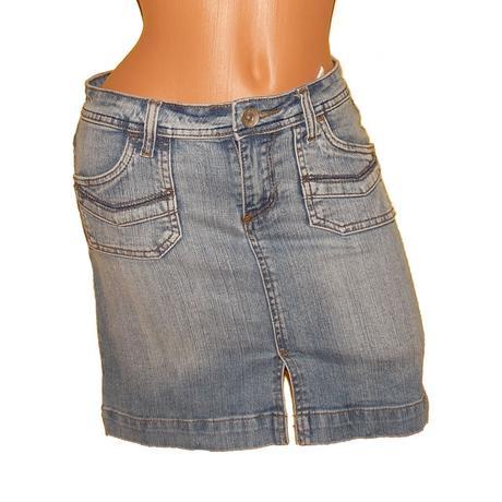Džínová, riflová sukně amisu vel.36_elastan, amisu,36