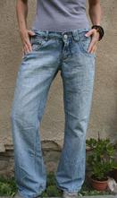 Džíny široké nohavice vel 38-40, 38