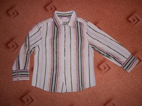Fialová košile s pruhy, next,98