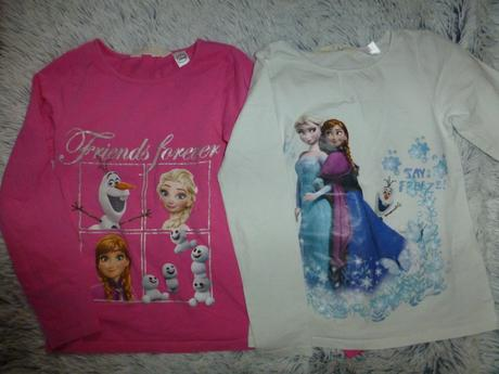 2krát tričko frozen 122/128, h&m,122