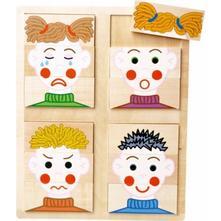 Dřevěné puzzle - emoce,