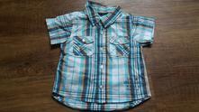 Pěkná modrá kostkovaná košile, l.o.g.g.,74