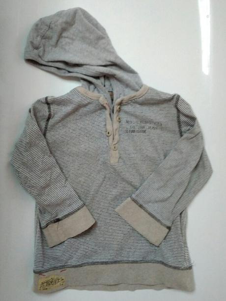 S10 - tričko proužek s kapucí, next,110