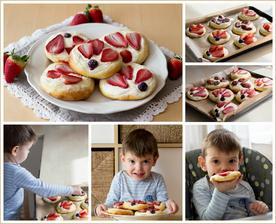 Kynuté koláčky s tvarohem a ovocem