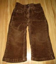 Manšestrové kalhoty, h&m,86