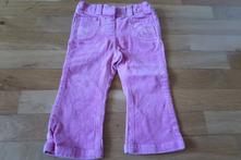 Růžové manžestrové kalhoty, marks & spencer,86
