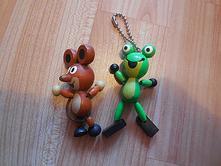Dřevěná myška a žabička detoa,
