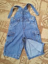 Kalhoty riflové lacláče - vel. 6-9 měsíců (160), 74