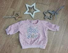 Růžová mikinka hvězda, f&f,62