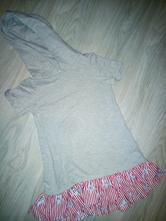 Mikinové šaty-tunika, matalan,122