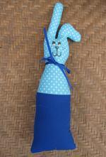 Velikonoční zajíček - látkový modrý,