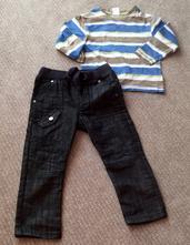 Setík - slim džíny a triko, f&f,92