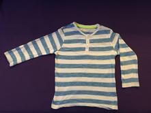 Bílomodré pruhované triko s knoflíky pepco, pepco,104