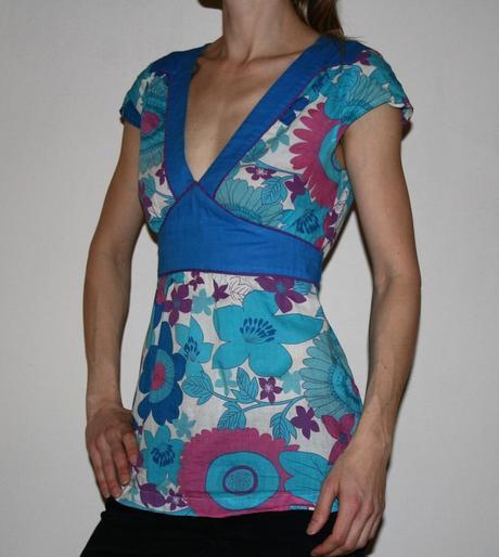 Bavlněné barevné lehké triko, new look,s