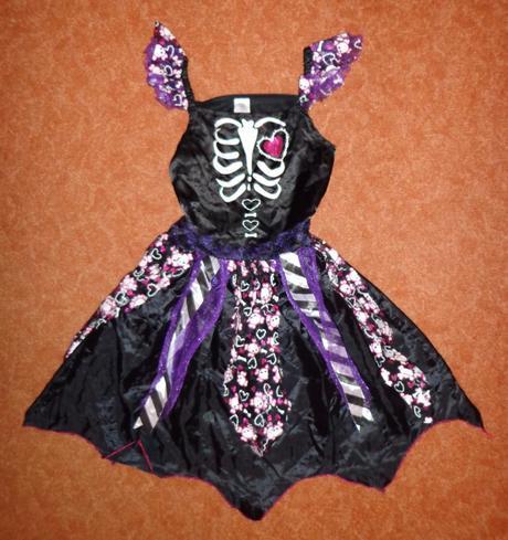 Kostým šaty kostlivec, tesco, vel. 9-10 let.,