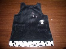 Šaty-černý samet-v.80/86, marks & spencer,86