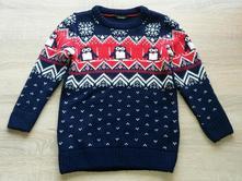 Pletený svetr s tučňáky vel. 104-110, george,104