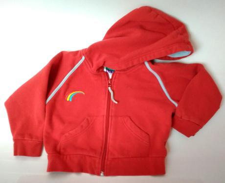 S19 - červená mikina na zip s kapucí, 98