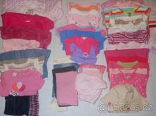 Mix oblečení 44ks pro holčičku 0-12 měsíců,