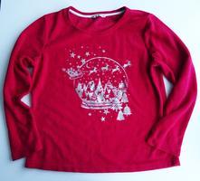 Flísová pyžamová mikina s vánočním motivem, 44