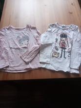 Dvě trička s dlouhým rukávem vel. 104 a 110/116, palomino,104