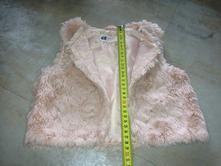 Kožíšková vestička 1,5-2roky 92cm něžná růžová hm, h&m,92