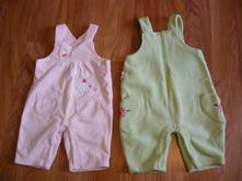 Dvoje fleesové laclové kalhoty, f&f,68