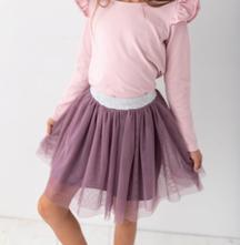 Fialová dívčí tylová tutu sukně, 98 - 134
