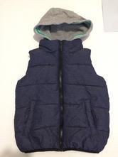 Buřtíkatá vesta s kapucí, next,104