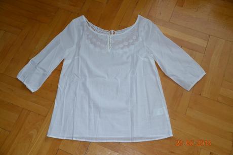 Krásná nová bílá halenka zn. blancheporte, vel. 40, 40