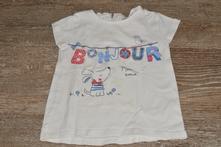 Bílé tričko, f&f,80