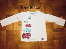 Tričko 80 cm výprodej, f&f,80