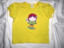 Nádherné žluté tričko s holkou, tu,74